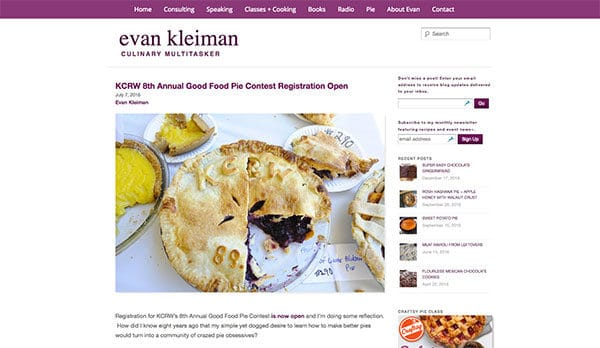 Evan Kleiman - all about pie